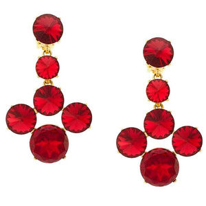 Oscar de la Renta Scarlet Rivoli Stone Earrings